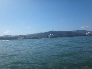 青島リーフ パドル5分からの眺め